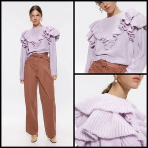 🆕 Zara flutter knit sweater size M